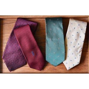 Vintage Givenchy, YSL, Ralph Lauren Tie Set